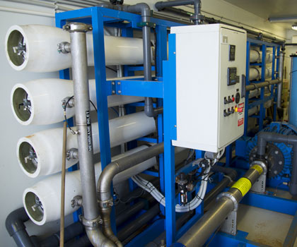 Sulfate Sulphate removal system in a shipping container