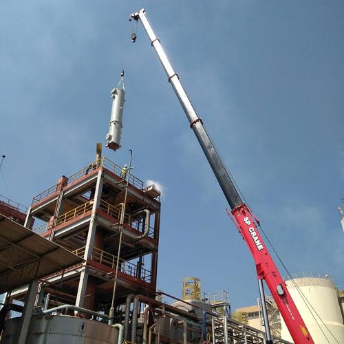 scrubber-crane-installation